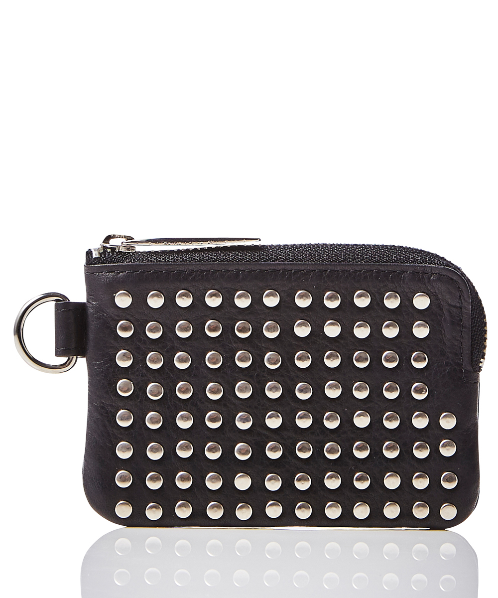 LEATHER COIN CASE ALL-STUDS