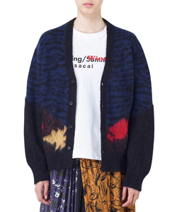 ANIMAL JACQUARD KNIT CARDIGAN