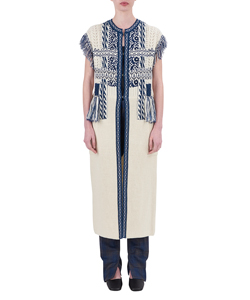 SKIERS KNIT ETHNIC LONG VEST