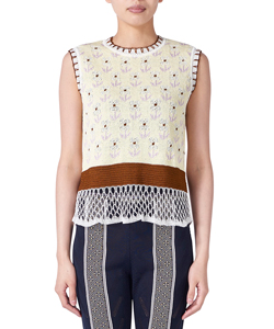 PEDICEL PATTERN SLEEVELESS KNIT