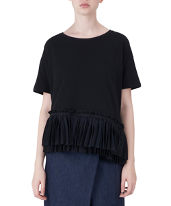 PLEATS HEM T-SHIRTS