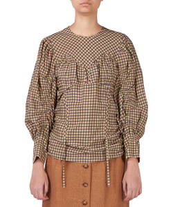 MEDINA CHECK BLOUSE