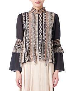 FRINGE LACE BLOUSE