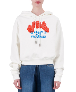 HEART NOT TROUB CROP HOODIE