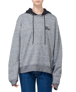 COTTON SWEAT ATTACHED HOOD PULLOVER SHIRT
