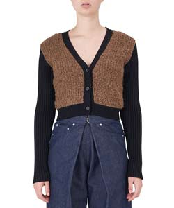 COMBINATION KNIT CARDIGAN