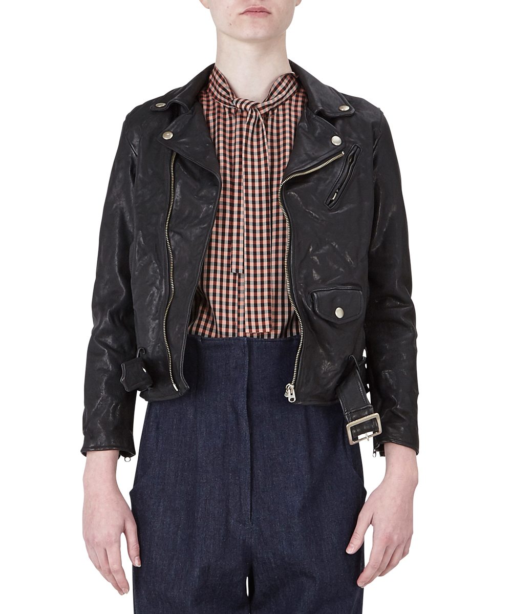 SHRINK LEATHER RIDERS JACKET