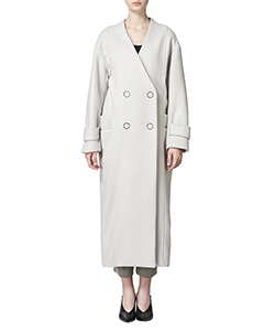 NOCOLLAR COAT WITH DOUBLE POCKETS