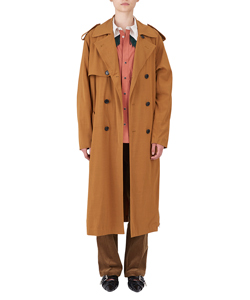 RAYON TWILL TRENCH COAT