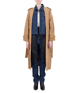TRENCH COAT WITH DENIM