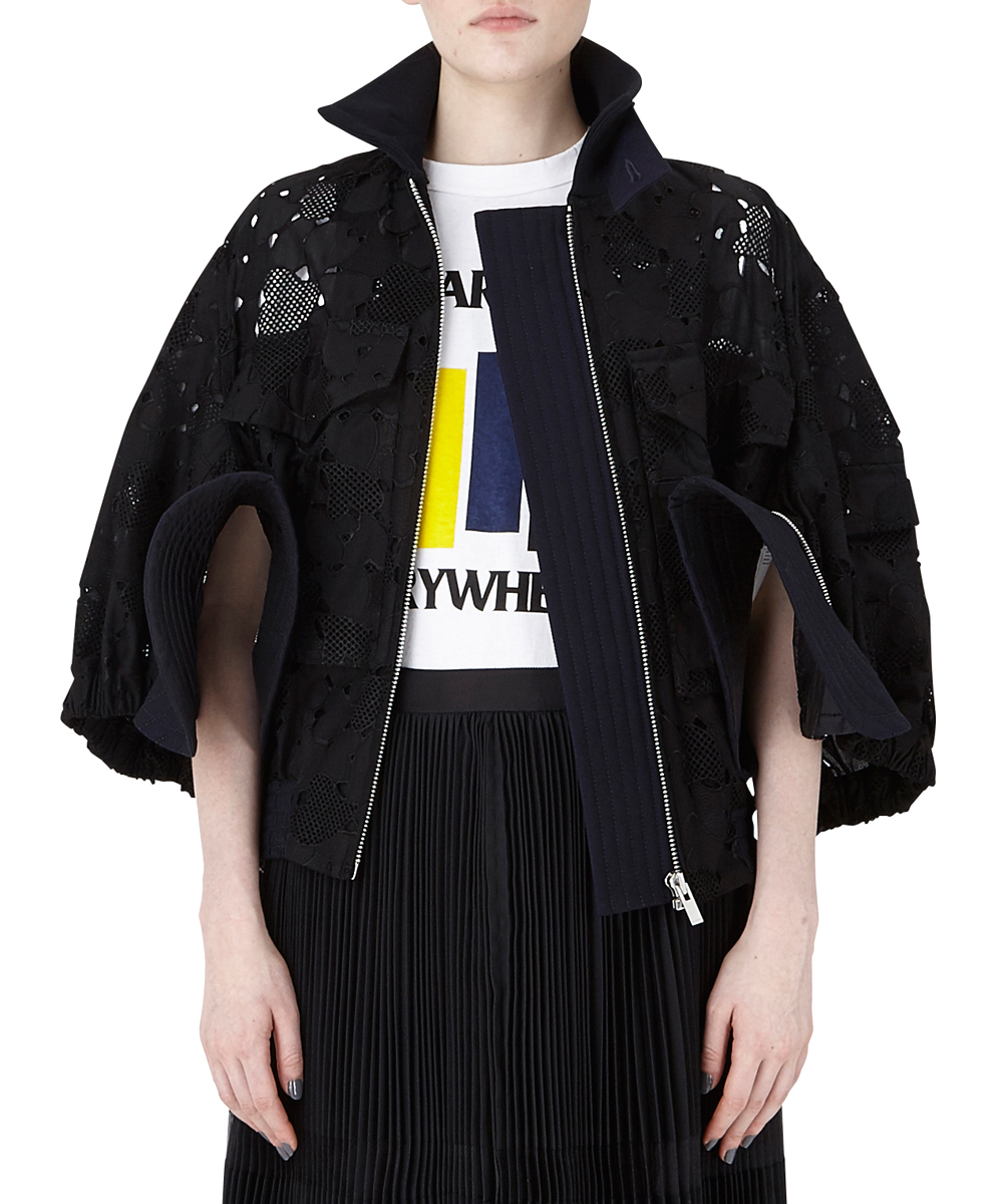 HEART EMBROIDERY BLOUSON