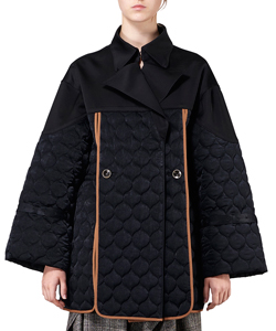 LOU QUILTED FRONT SLIT BLOUSON