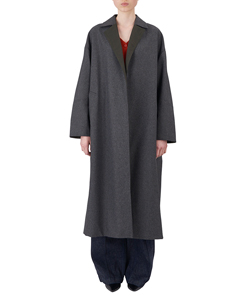 OVERSIZE REVERSIBLE COAT WITH WAIST BELT