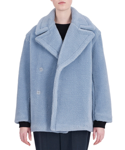WOOL BOA HALF PEA COAT