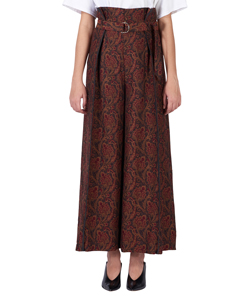 PAISLEY TUCK WIDE PANTS