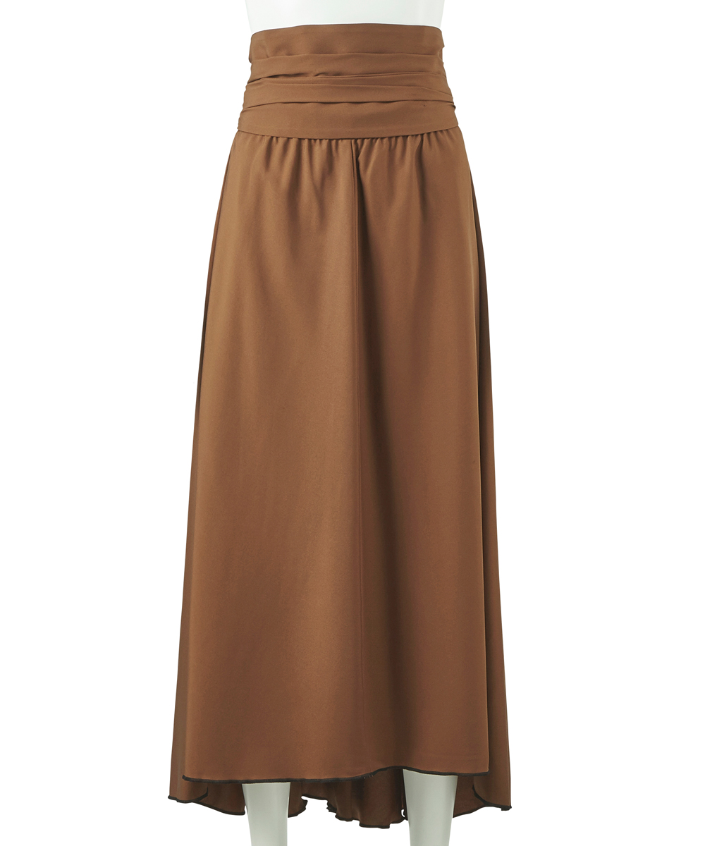 SILK IRREGULAR HEM SKIRT