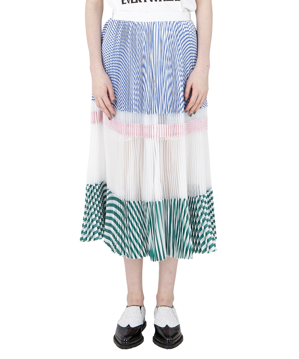 ORGANZA PLEATED SKIRT