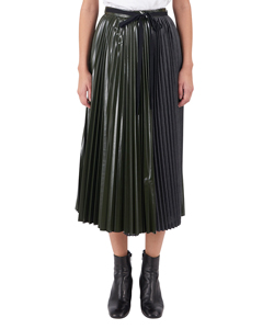 SLEEK PLEATED WRAP SKIRT