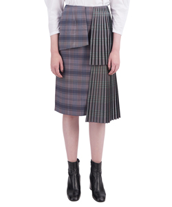 TIERED PLEATS SKIRT