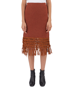 SUEDE NET SKIRT