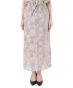 IRIS CUT JACQUARD SKIRT