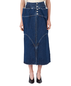 SLIDE PANEL DENIM SKIRT BL