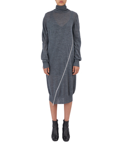 ZIP KNIT TUETLENECK DRESS