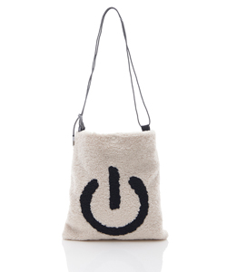 POWER BUTTON FAUX FUR BAG