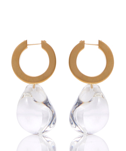 GLASS DROP PIERCED EARRINGS