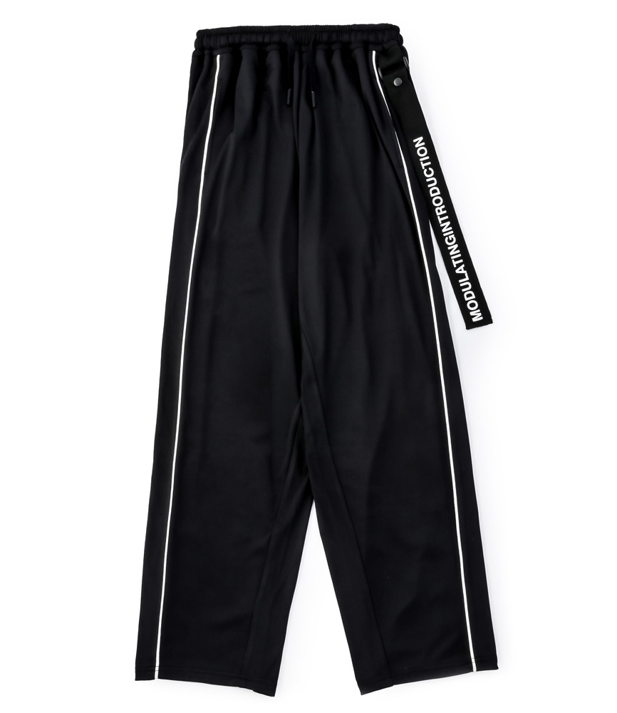 ROPE PIPING SPLIT WIDE PANTS