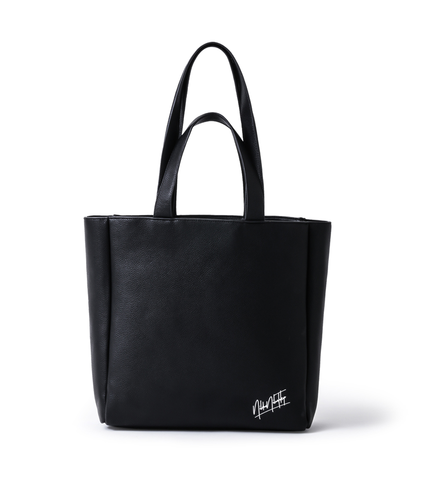 TWO STRAP LEATHER TOTE BAG