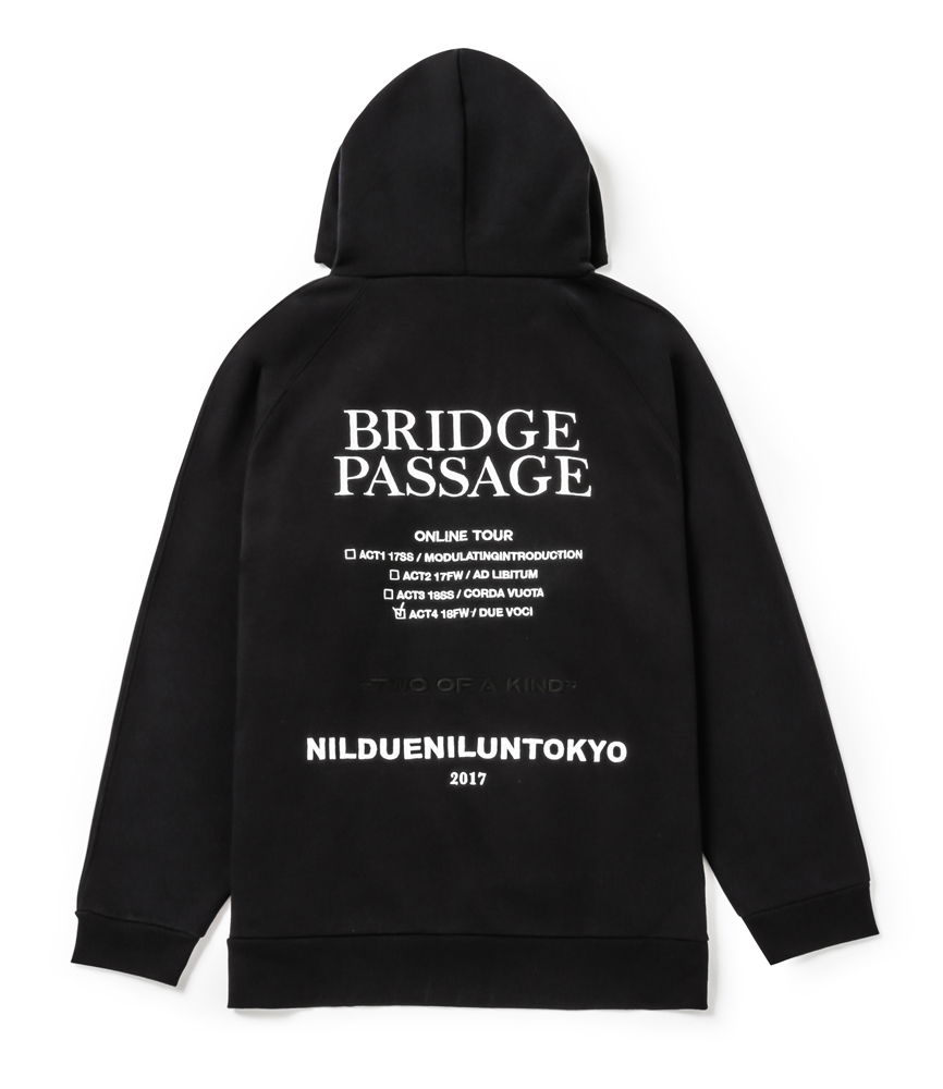 BRIDGE PASSAGE BIG HOODIE / BLK
