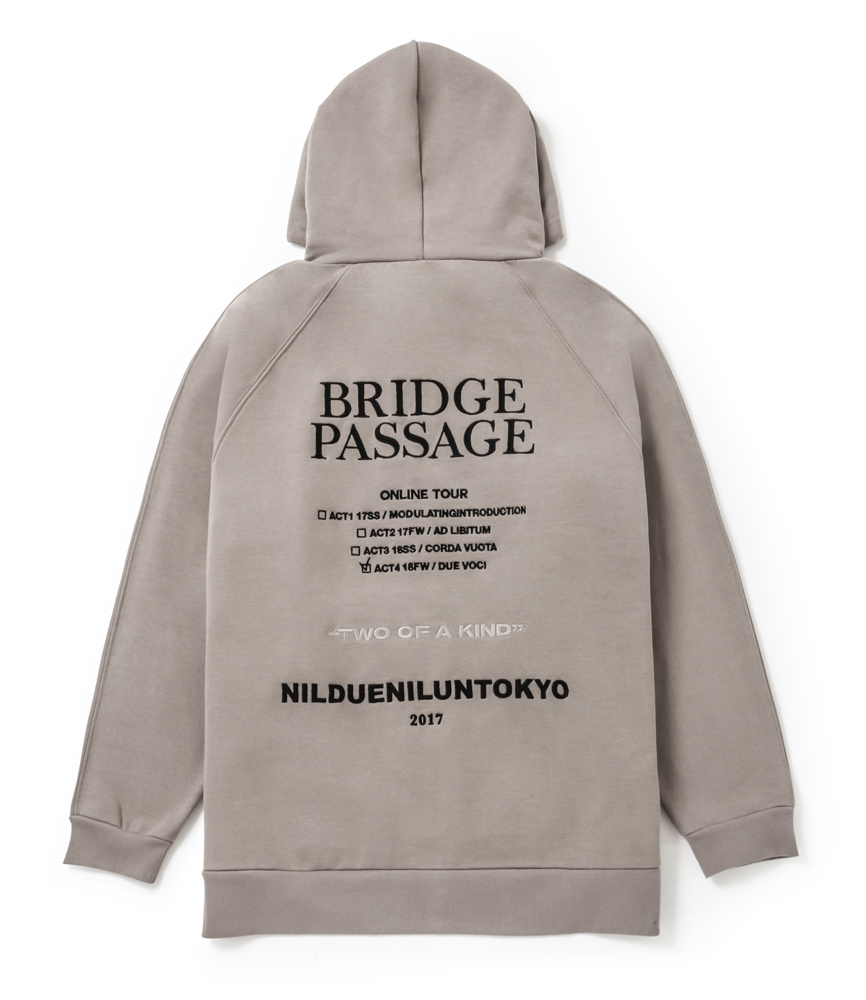 BRIDGE PASSAGE BIG HOODIE / BEG