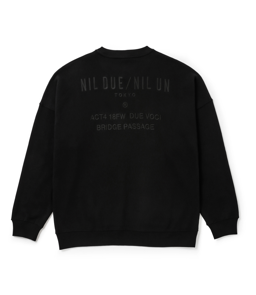 PASSAGE SWEAT PULLOVER / BLK