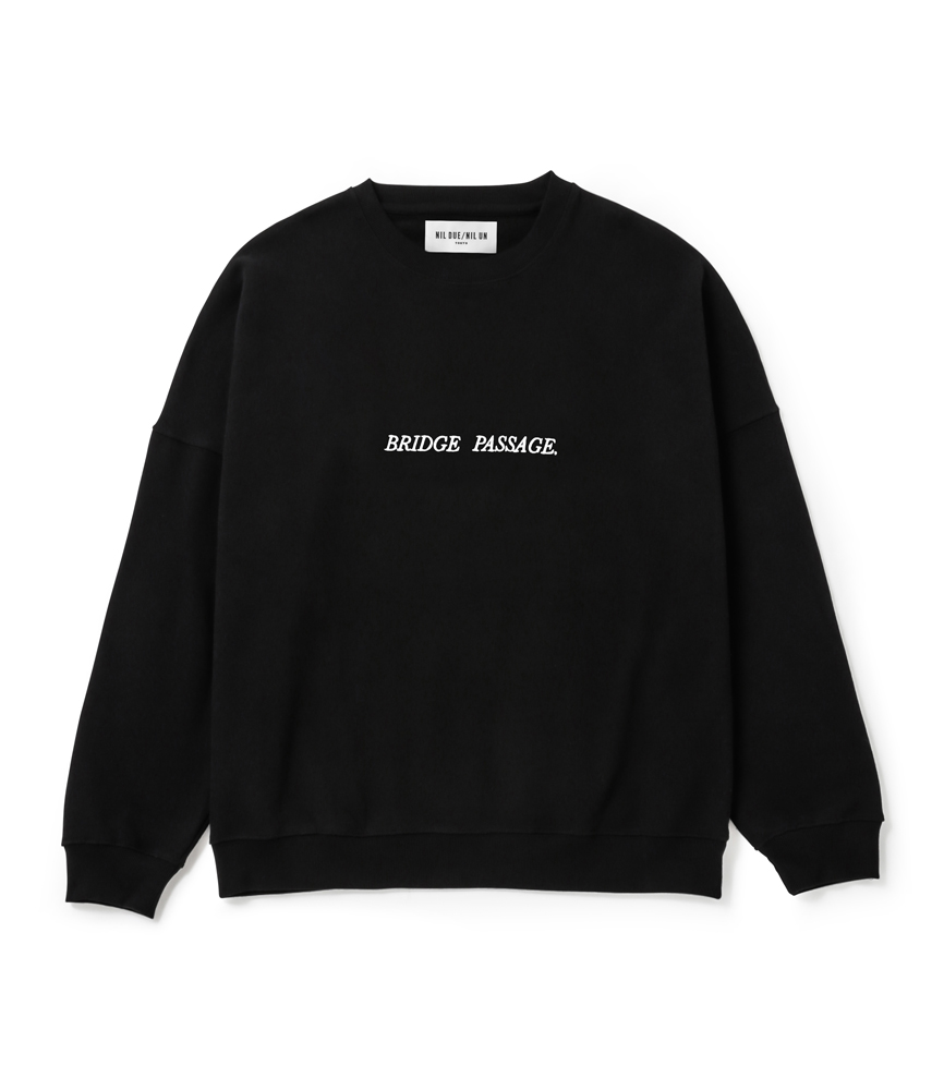 BRIDGE PASSAGE SWEAT PULLOVER / BLK