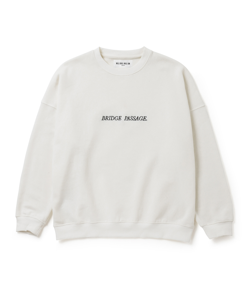 BRIDGE PASSAGE SWEAT PULLOVER / WH