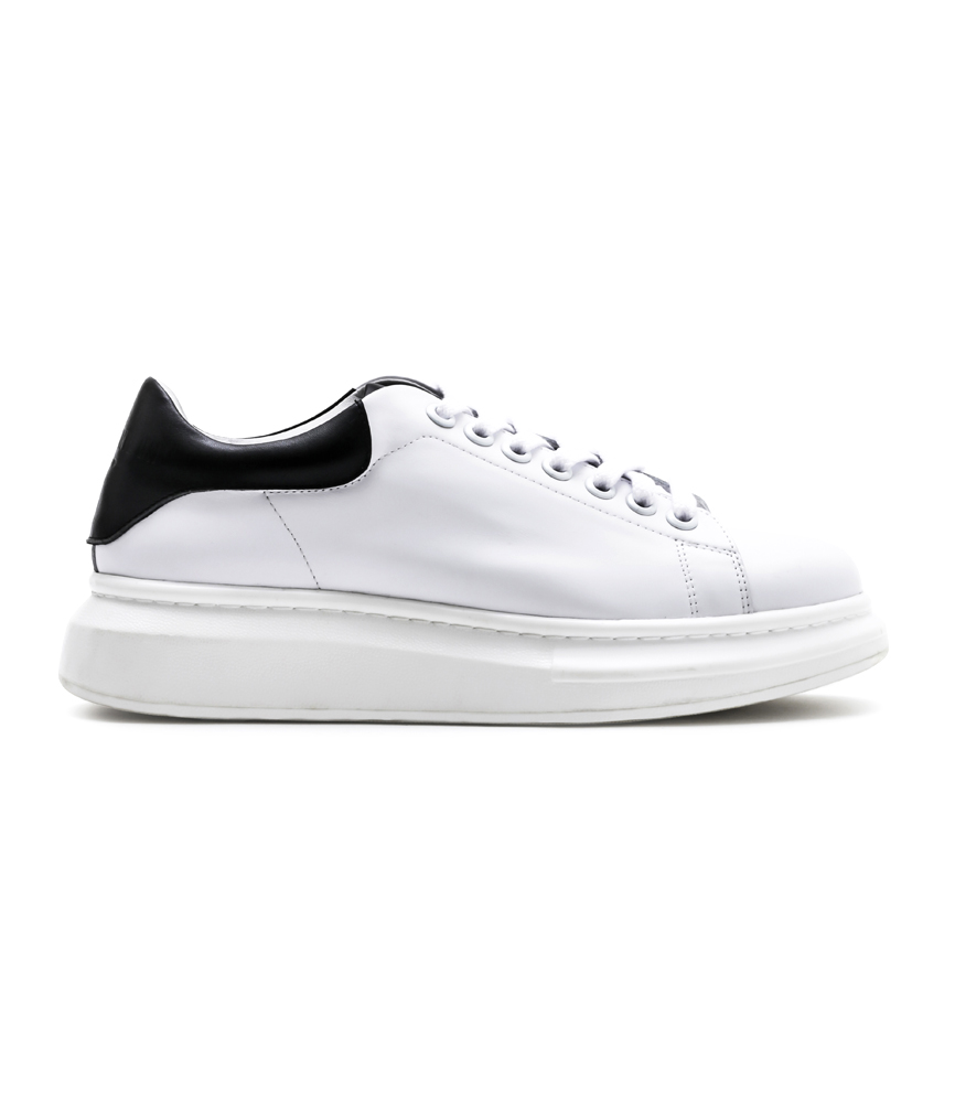 MONO LEATHER SNEAKER / WH