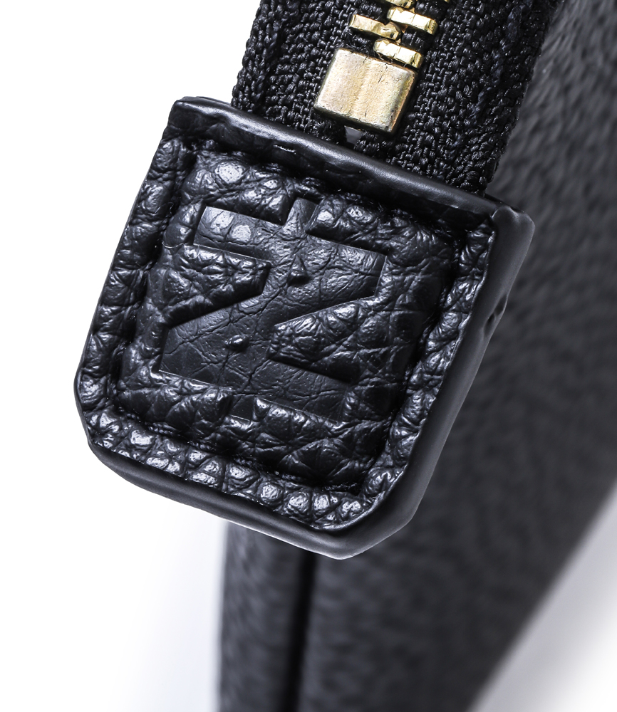 LEATHER CLUTCH BAG / BLK