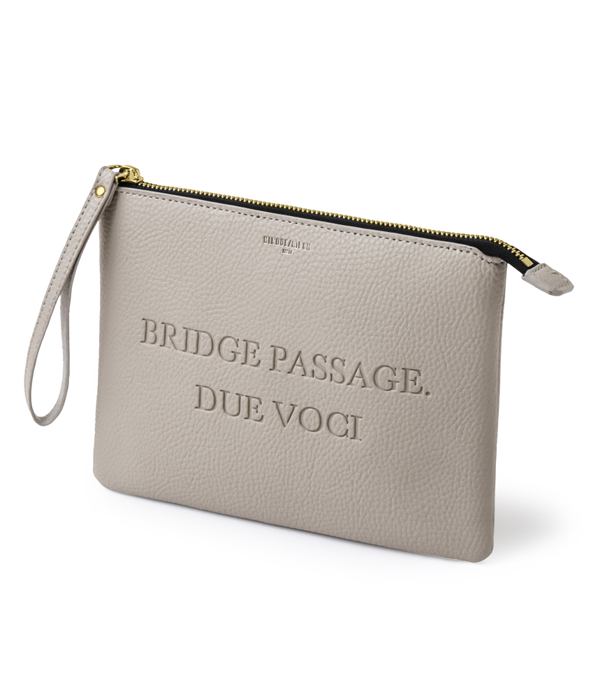 LEATHER CLUTCH BAG / BEG