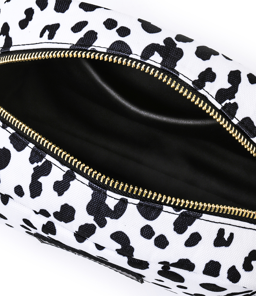 LARGE LEATHER TAG POUCH / LEOPARD