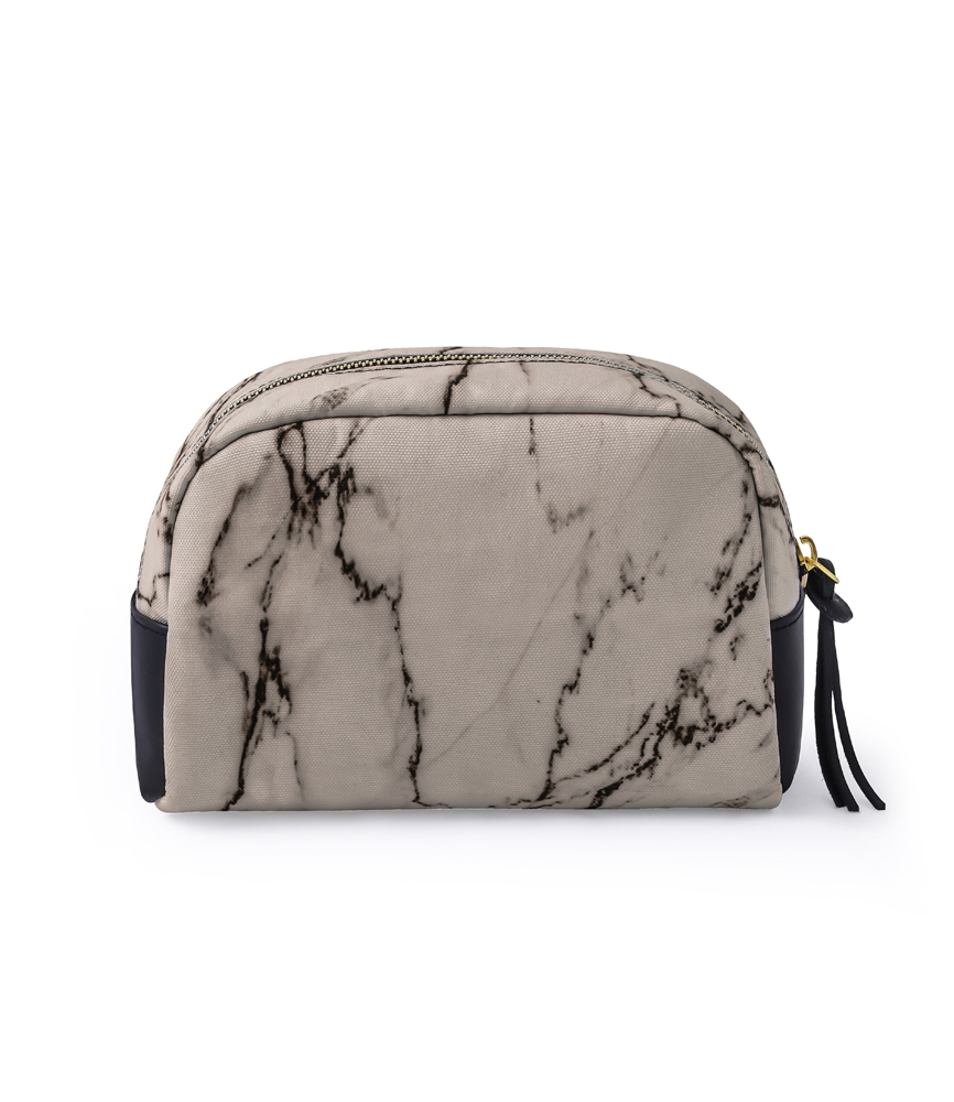 LARGE LEATHER TAG POUCH / MARBLE