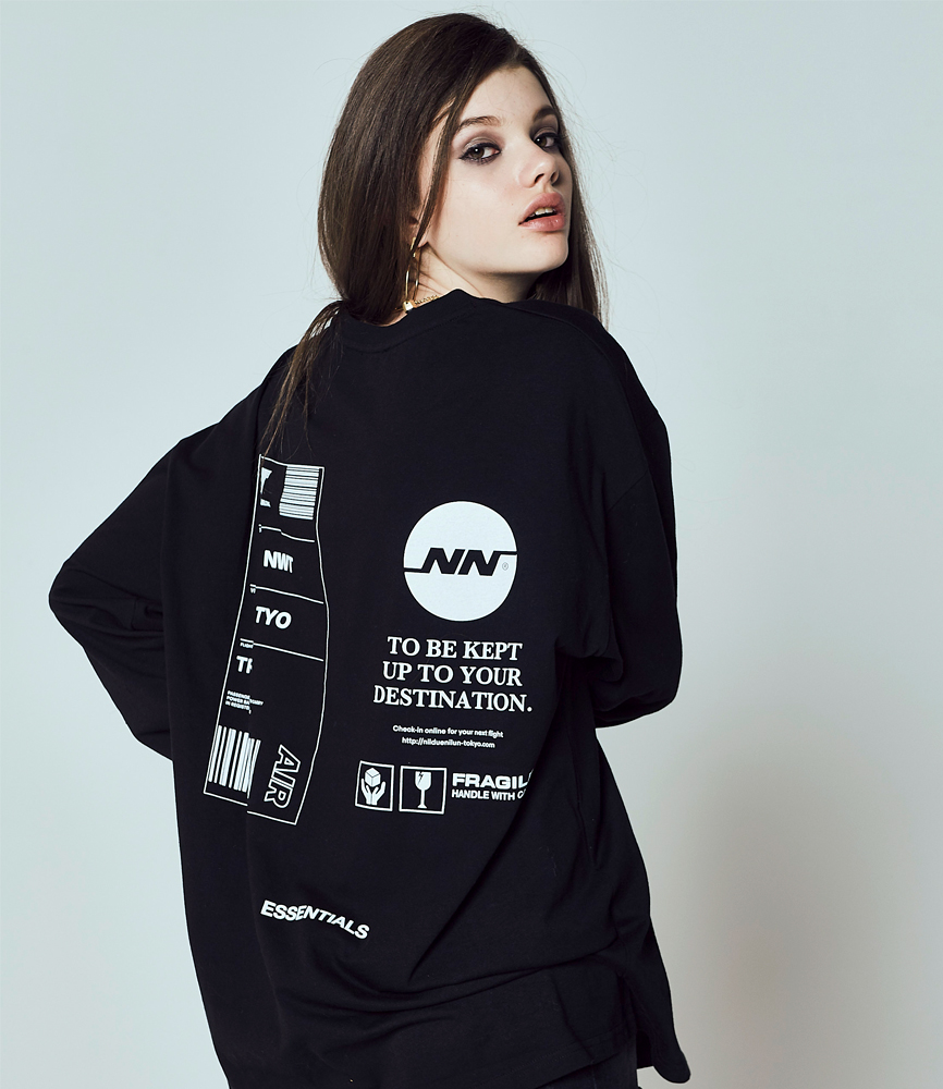 TAG LONG SLEEVE TEE / BLACK