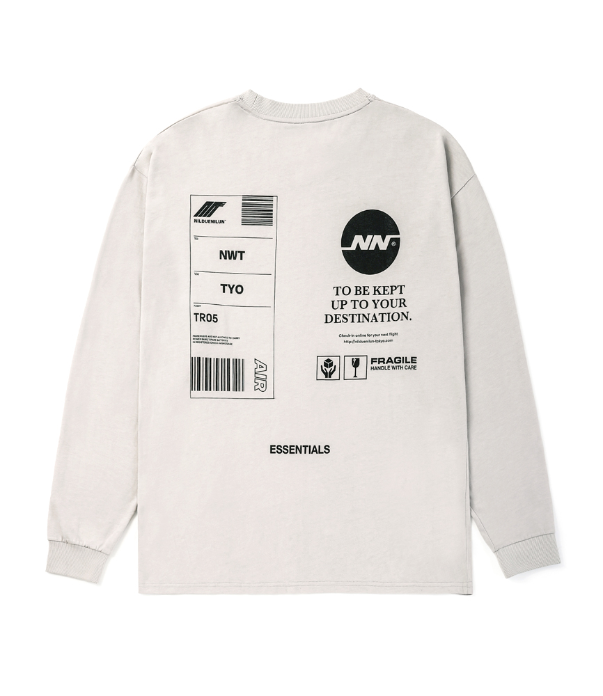 TAG LONG SLEEVE TEE / OATMEAL