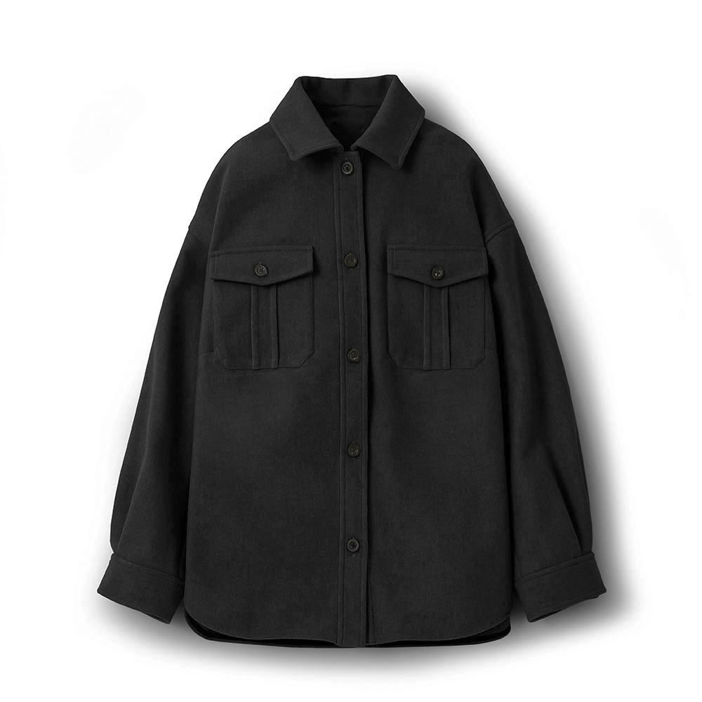 LEATHER TAG SHIRTS JACKET