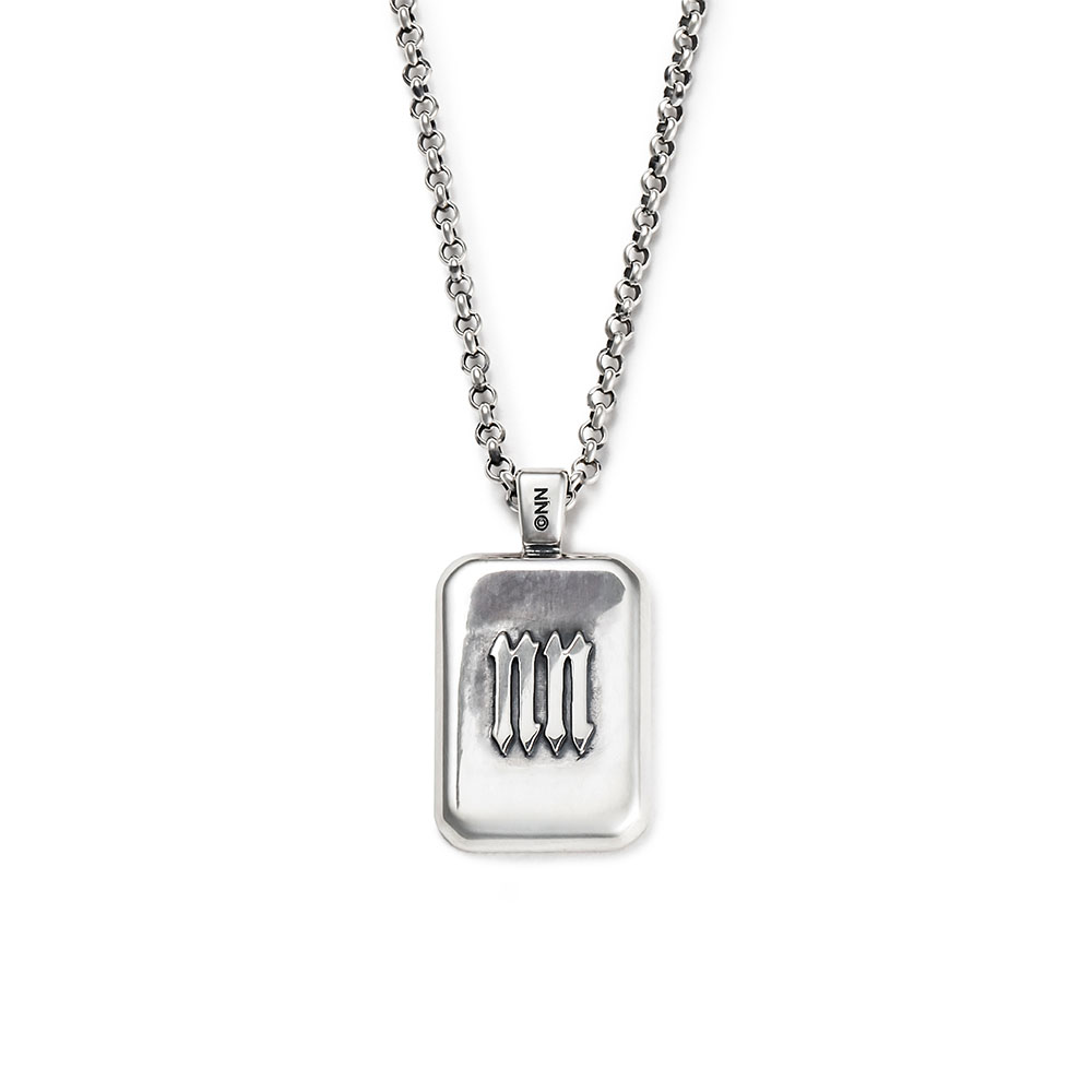 INITIAL SQUARE NECKLACE / SV