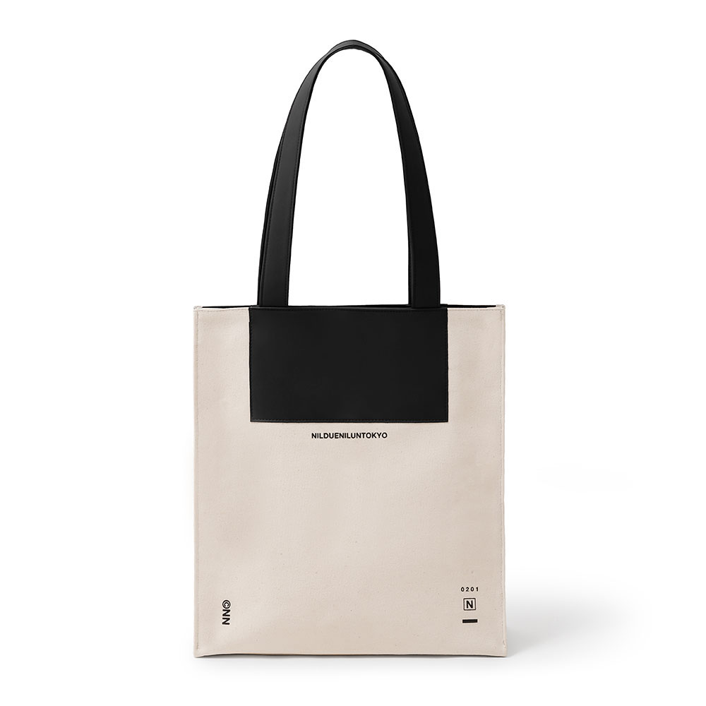 CANVAS LEATHER TOTE