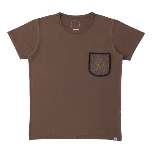 【ポイント10倍】EMBROIDERY POCKET TEE S/S