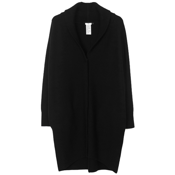 SEMIWORSTED WOOL カーディガン/BLACK