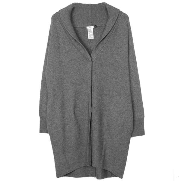 SEMIWORSTED WOOL カーディガン/GRAY