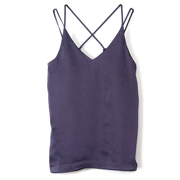 Back Cross Camisole/PURPLE